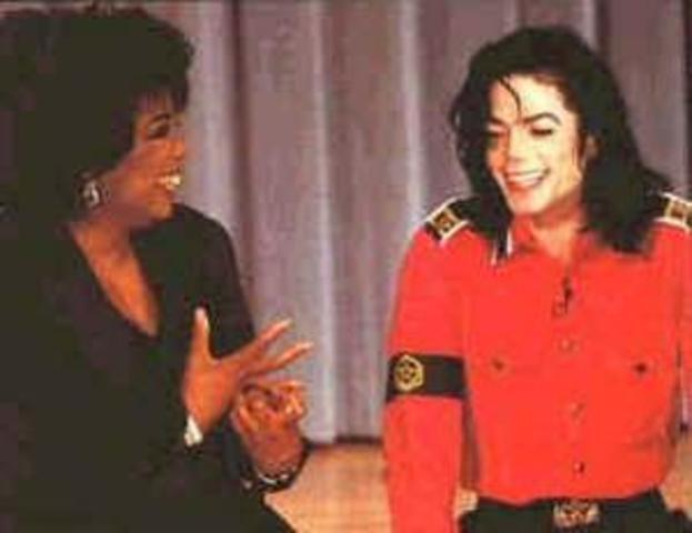 "Tells Oprah he has a skin disorder called ""vitiligo"""