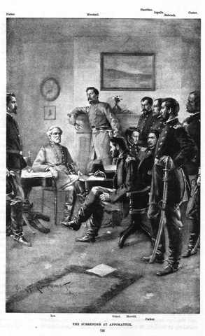 surennder at the appomattox courthouse