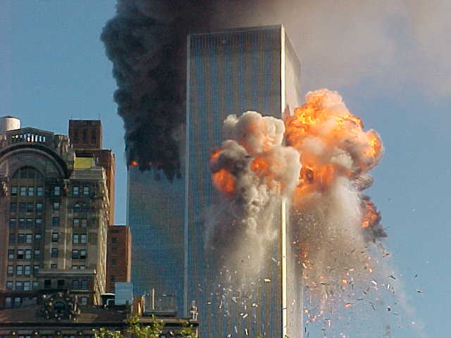 """Airplane """"crashes"""" with World Trade Center"""