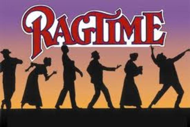 Ragtime hit its peak popularity