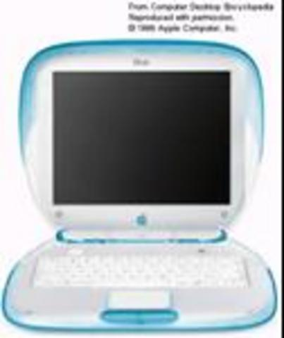 I.iBook, the first semi portable computer was released by apple.