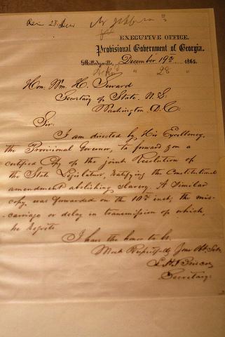 Ratification of the 13th Amendment