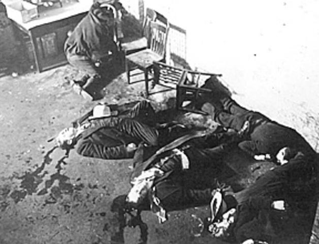 The St. Valentine's Day Massacre occurs