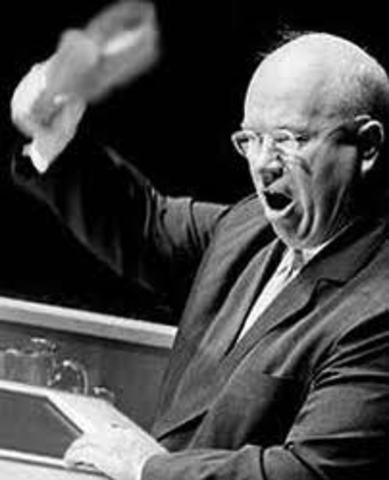 Leader of USSR Nikita Khrushcheu