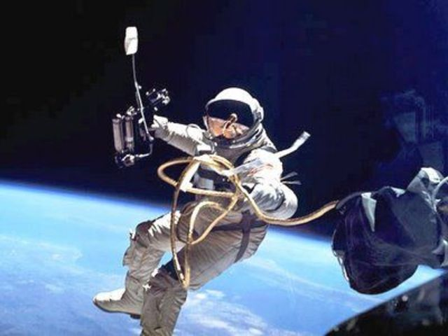 First Man To Walk In Space