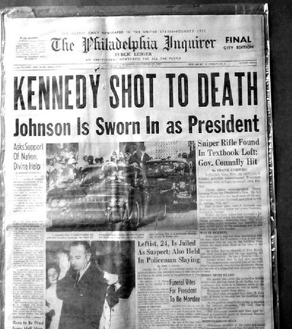 President Kennedy assassinated