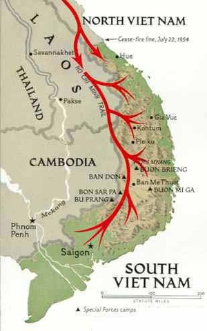 During 1959 the Ho Chi Minh Trail is created.