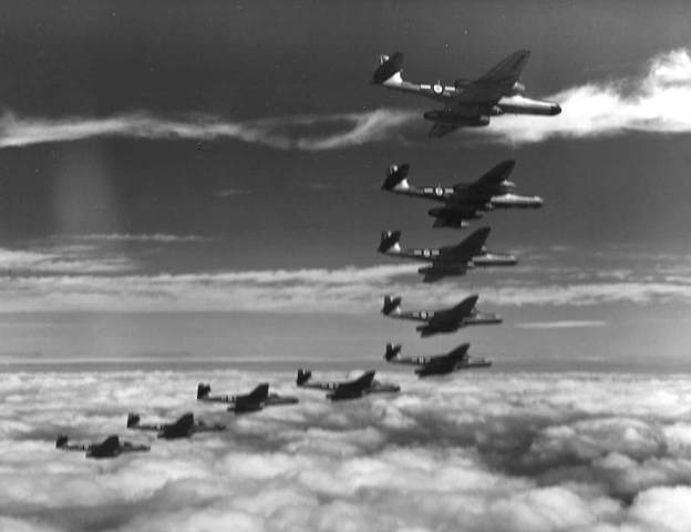152 Sqn arrive flying Meteor NF12's and NF 14's