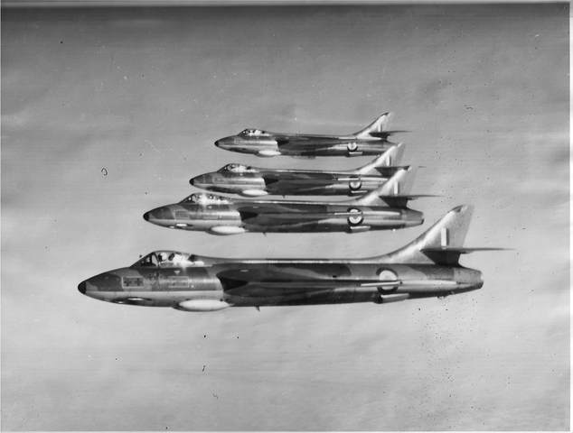 257 Sqn. are Re-equipped with Hunter F2's