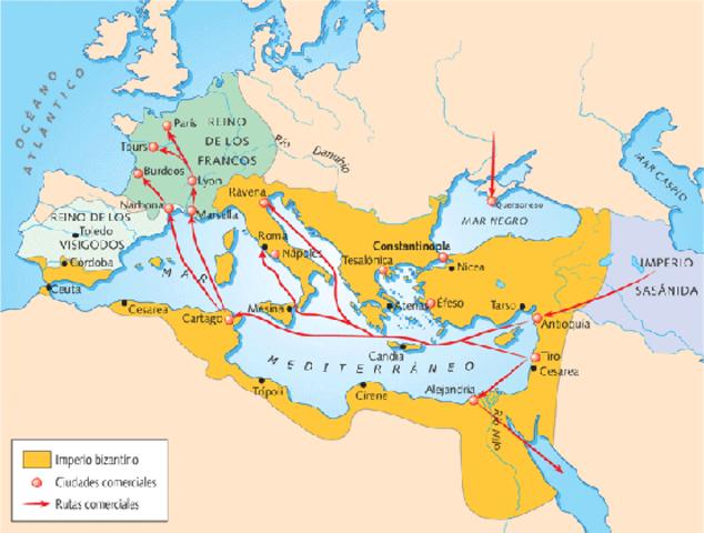 División del Imperio romano (Oriente y Occidente)