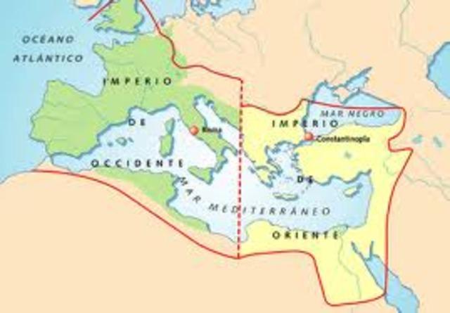 División del impero romano