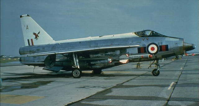 23 Sqn. arrive equipped with Lightning F6's