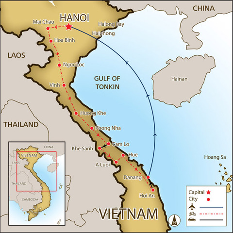Construction of the Ho Chi Minh Trail.