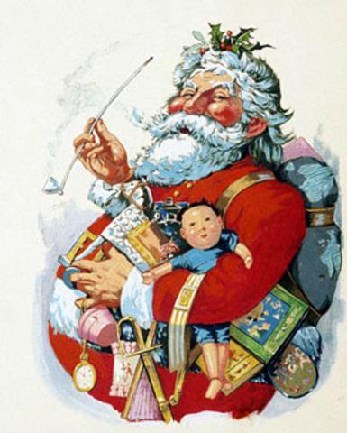 Santa Claus illustrations published in magazine