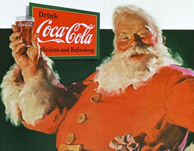 The Coca-Cola Santa created