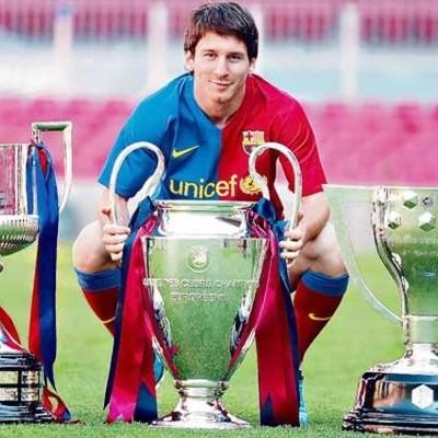 Títulos de Leo en el Barcelona timeline