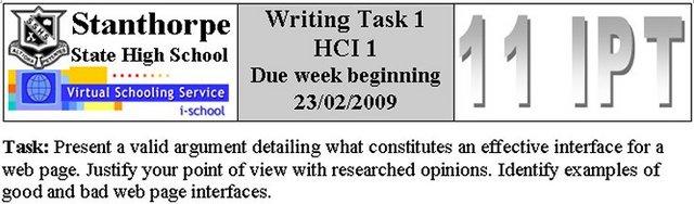 HCI I - Writing Task 1