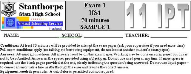 IIS I - Exam 1