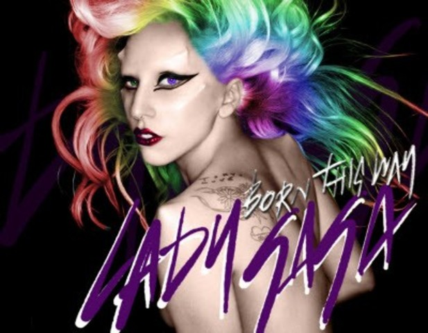 "Lady Gagas latest album ""born this way"""