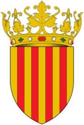 Aparición de la corona de Aragón