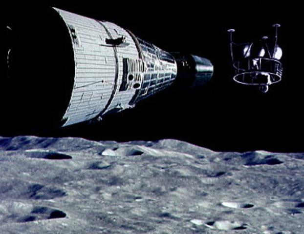 Manned Lunar orbit