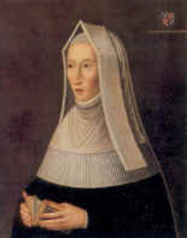 Lady Margaret Beaufort born: owner of much of the land round Great Bradley