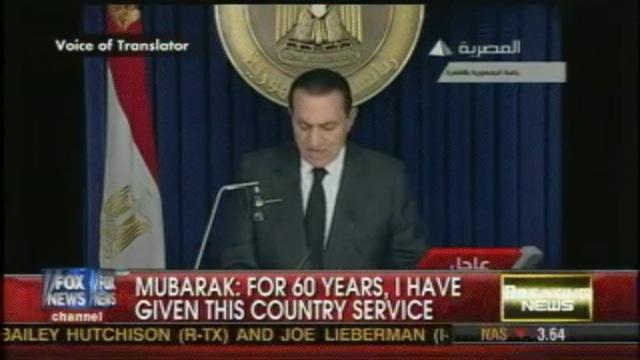Mubaraks Second speach