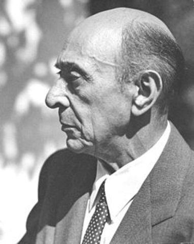 Arnold Schoenberg, Born.