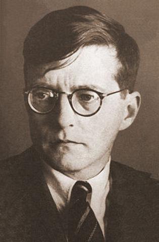 Dimitri Shostakovich, Born.