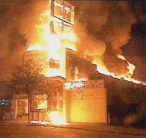 Race riots in Watts