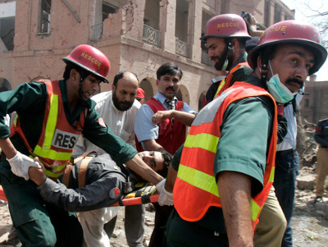 """An <a href=""""http://www.nytimes.com/2009/05/28/world/asia/28pstan.html?hpv"""" rel=""""nofollow"""">attack on local Inter-Service Intelligence Agency offices</a> in Lahore kills 23."""
