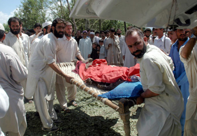 """Suicide bombers kill 49 people in <a href=""""http://www.nytimes.com/2007/07/16/world/asia/16attack.html"""" rel=""""nofollow"""">attacks on amilitary convoy in Swat and a police recruitment center in Dera Ismail Khan</a>."""