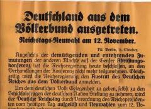 Austritt Deutschlands aus dem Völkerbund