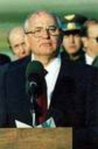 Mikhail Gorbachev begins policies of Glasnost and Perestroika