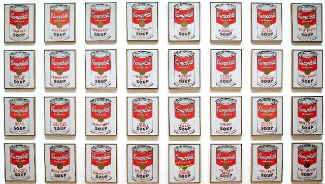 Campbells soup cans 1962