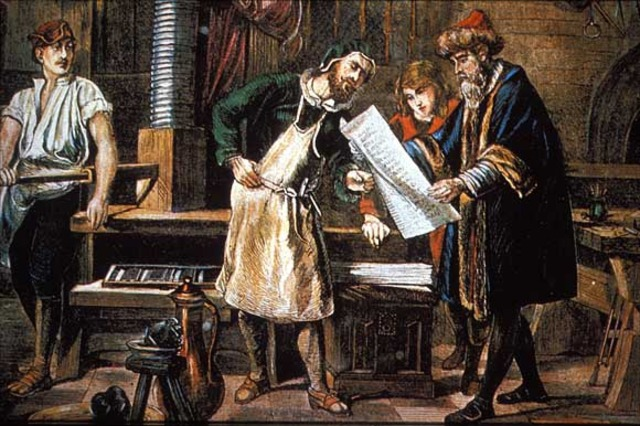 The Invention of the Printing Press of Johannes Gutenberg