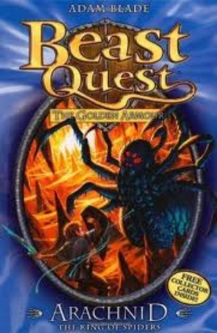 Beast Quest the golden armour arachnid the king of spiders