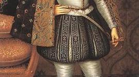 King James I of England's life on a line timeline