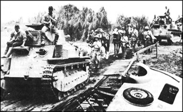 The WWII Japenese invasion of the Philippines