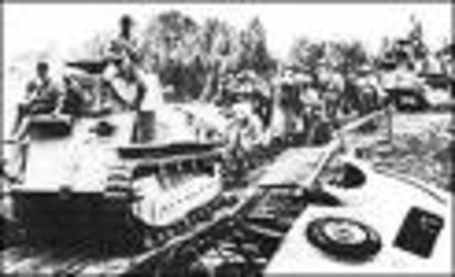 The WWII Japanese invasion of the Philippines