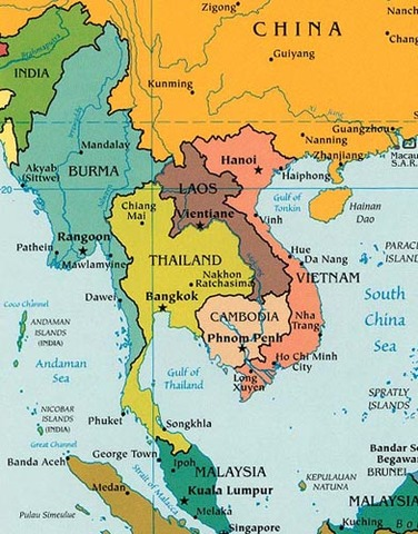 Map Of Asia 1960.South East Asia Timeline Timetoast Timelines