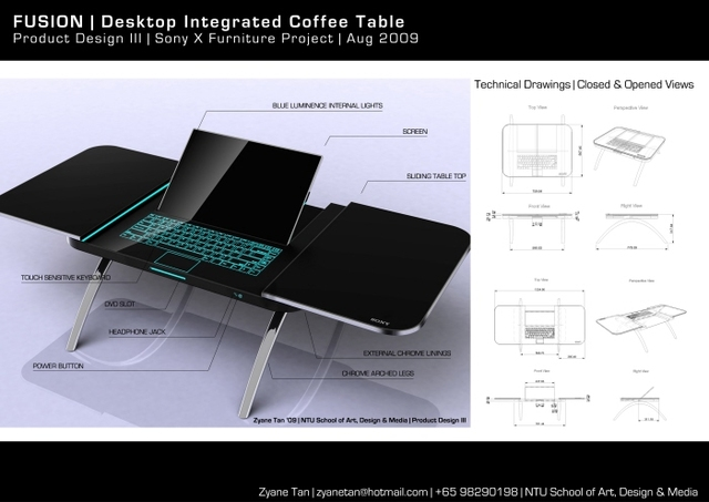 Sony Fusion Cofee Table