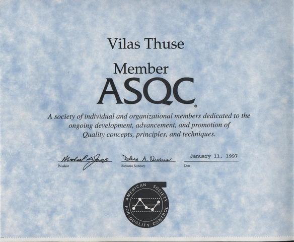 Fundación de ASQC y Capacitación
