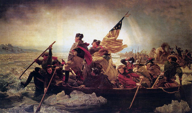 Washington Crosses the Delaware and Takes Trenton, NJ
