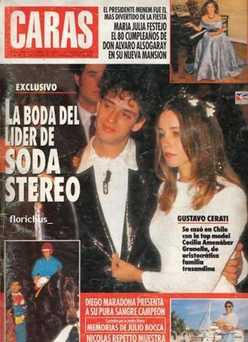 Wedding of gustovo cerati