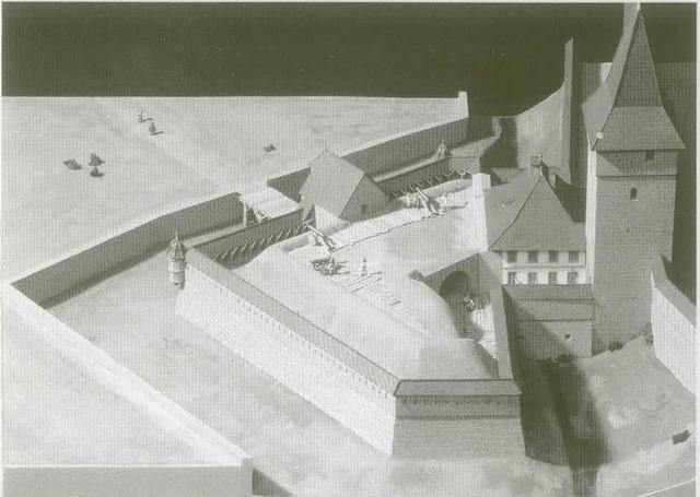 Début de la construction de la Porte de Romont