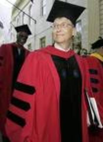 Bill Gates graduates from Harvard university