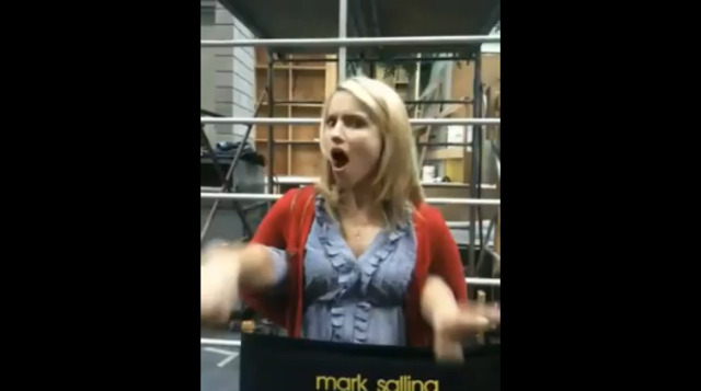 Harry Shum posts a video of Dianna goofing off on set