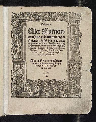 El primer periódico impreso salió a la luz en la ciudad belga de Amberes