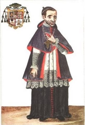 Visita del Obispo de Trujillo  Martínez de Compañón al pueblo d e Chiclayo